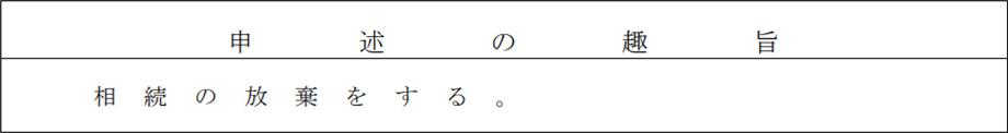 図表 相続放棄申述書の申述の趣旨の記載例