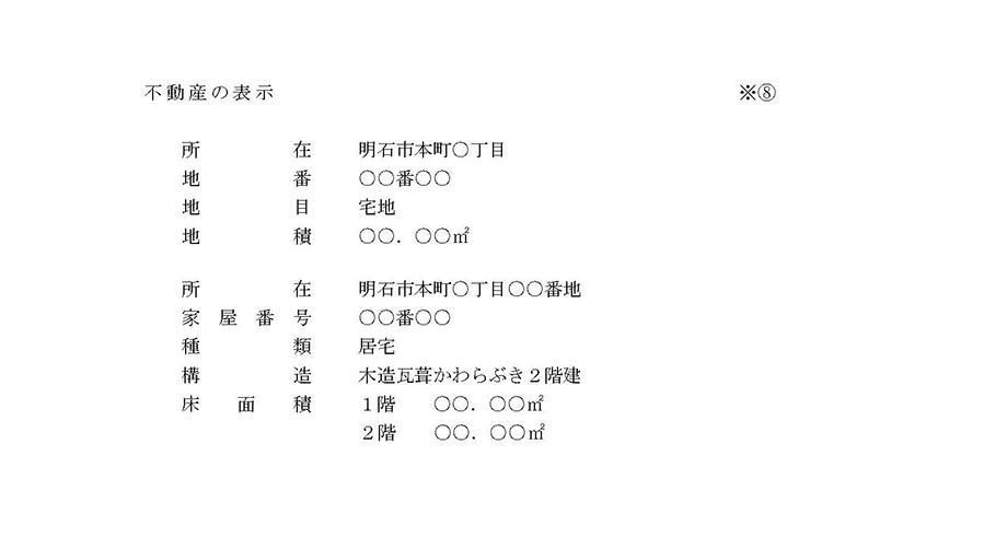 図表 抵当権抹消による登記申請書の書式例