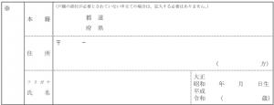 検認申立書式例 「当事者目録」欄