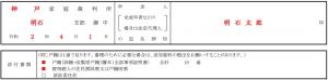 書式サンプル│申述人欄・添付書類欄の記入例